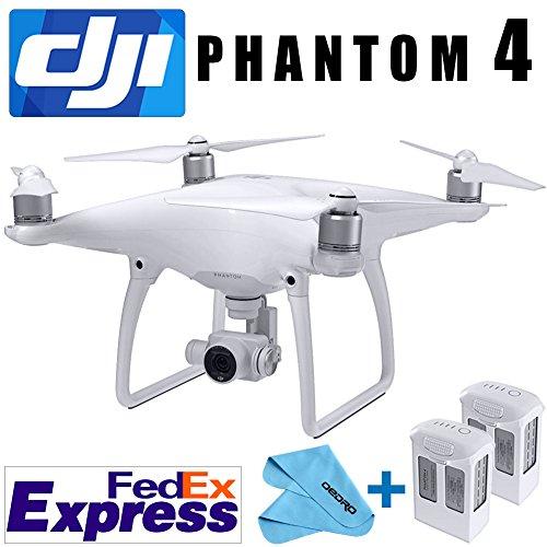 DJI PHANTOM 4 GPS QUADCOPTER PHANTOM4 DRONE GIMBAL 4K/12MP HD CAMERA NEW+ EXTRA BATTERY Fedex EXPRESS+4 Prop Guards