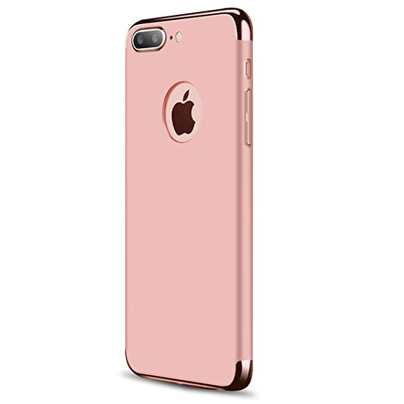 iPhone 7 Plus Case£¬iPhone 8 Plus Case,iBarbe 3 in 1 Hybrid Thin and Slim  Hard PC Holder Coated Non Slip Matte Surface with Glitter Electroplate