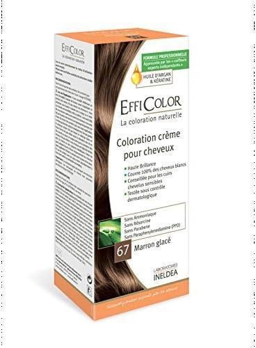 Coloración Natural efficolor N ° 67 marrón helado – sin ...
