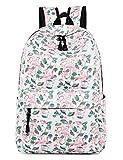 Leaper Flamingo Backpack for Girls Laptop Backpack School Bag Daypack White