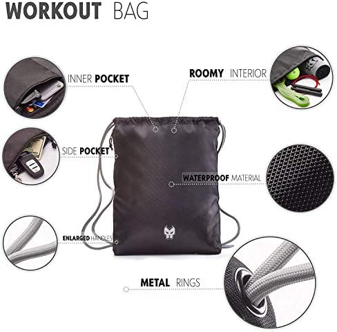 KONUNGR Workout Set for Home Fitness on Quarantine - Pull Up Band - Massage Ball - Sport Towel - Jump Rope - Stay at Home & Get Fit During Isolation 6
