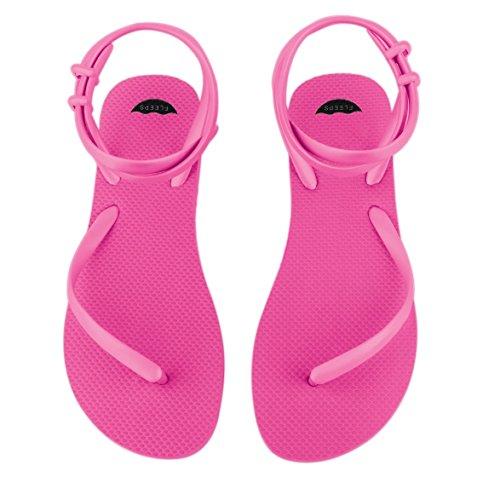 Fleeps Sandales Flip Flops Super Rose Pour Femme - Tongs Unique, Élégante Et Confortable Qui Redonne À Léducation Des Femmes