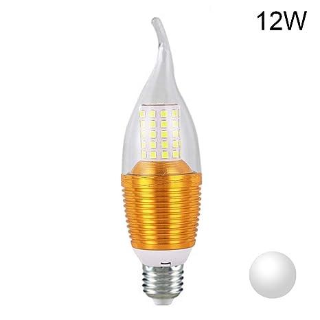 DKEyinx - Bombilla LED E14 de bajo Consumo con Forma de Vela, 5/7