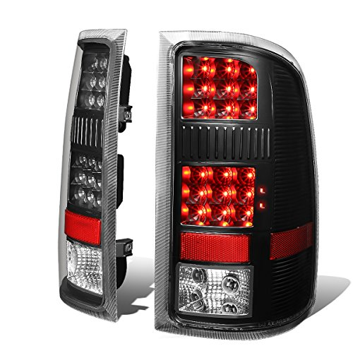 Black Housing Clear Lens Full LED Tail Lights Brake Lamps for GMC Sierra 1500 2500HD 3500HD 07-14
