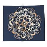 Society6 Metal Mandala On Blue 88'' x 104'' Blanket