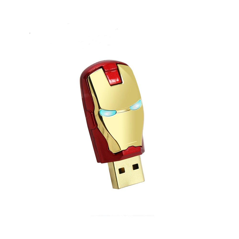 Star Wars USB Flash Drive - Marvel Flash Drive - Super Heros Pen Drive Stick (8GB, Ironman)