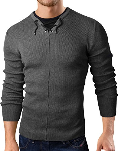 top Grin&Bear Slim Fit Men's knit pullover sweater 2in1 get discount
