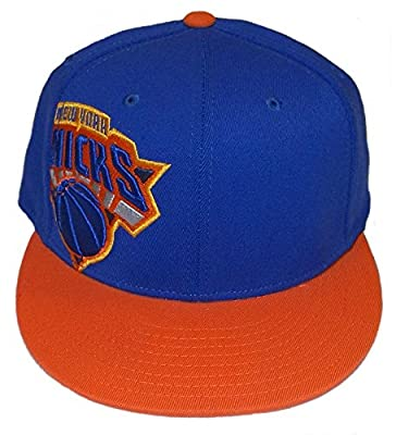adidas New York Knicks Flat Visor Flex Hat - L/XL from ADIDAS
