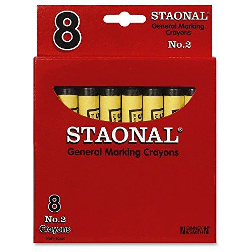 Crayola Bulk Extra Large Marking Crayons, Black,8 - Marking Staonal Crayons