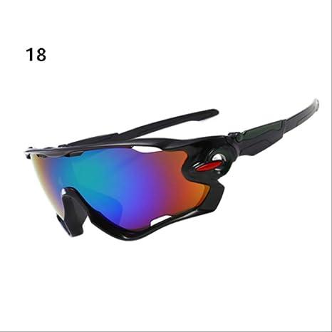 DBXKIGTM Gafas de Ciclismo Hombres Mujeres Deporte MTB Gafas de Bicicleta Moto Gafas de Sol de conducción Gafas de Pesca 18: Amazon.es: Deportes y aire libre