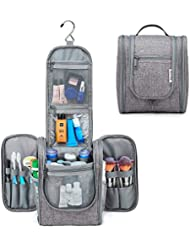 Hanging Travel Toiletry Bag Kit Cosmetic Makeup Organizer for Women and Men (Grey)