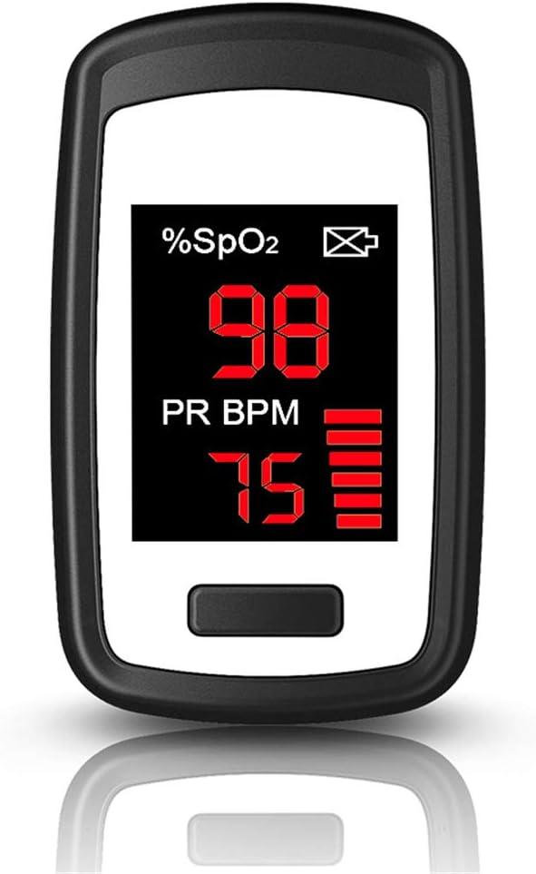 MOLINGXUAN Oxímetro de Pulso, Vigilancia Anti-Ejercicio/multiparámetro /-Alto Brillo de Gran Pantalla de visualización de Seguimiento de pulsómetros para la Familia del Ritmo cardíaco