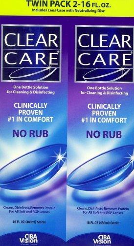 Clear Care Nettoyage et désinfection Solution (2 X 16FL Packs Oz)