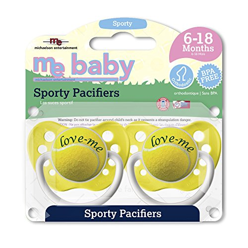 Michaelson Entertainment 2 Piece Pacifier, - Toy Player Tennis