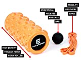 Foam Roller 3 in 1 Deep Tissue Mobility Kit (Extra Longevity & Firm) Includes: muscle Roller, mobility Ball, stretching Band