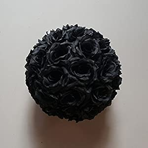 12 inch Artificial Rose Satin Pomander Kissing Balls for Home Wall Wedding Party Ceremony Decoration 28