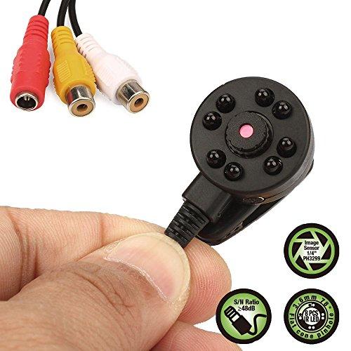 Vanxse Cctv Mini Spy Security Camera Hd 3.6mm 90degree 1000tvl 8PCS Infrared IR Leds Night vision Hidden Mini Cctv Surveillance Camera