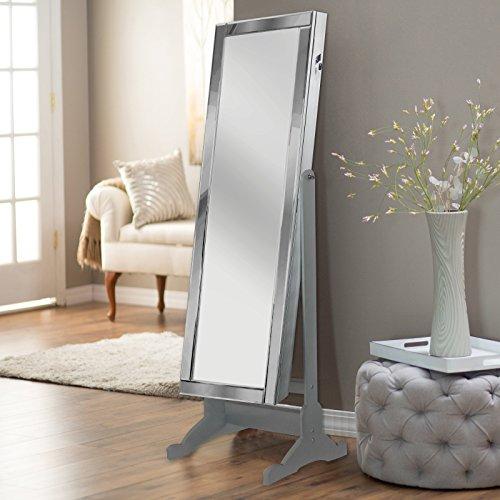 Iconic Home Glam Contemporary Classic Silver Mirror-Borde...