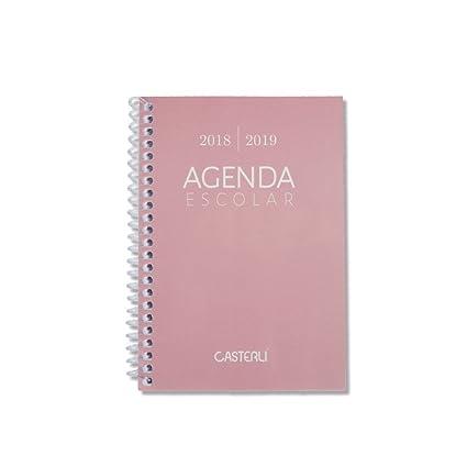 Casterli Iberia - Agenda Escolar 2018/19, día página, tamaño A6 (Rosa)