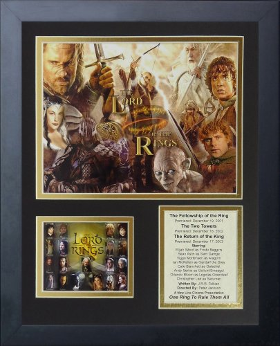 Legends Never Die The Lord of the Rings Trilogy Framed Photo