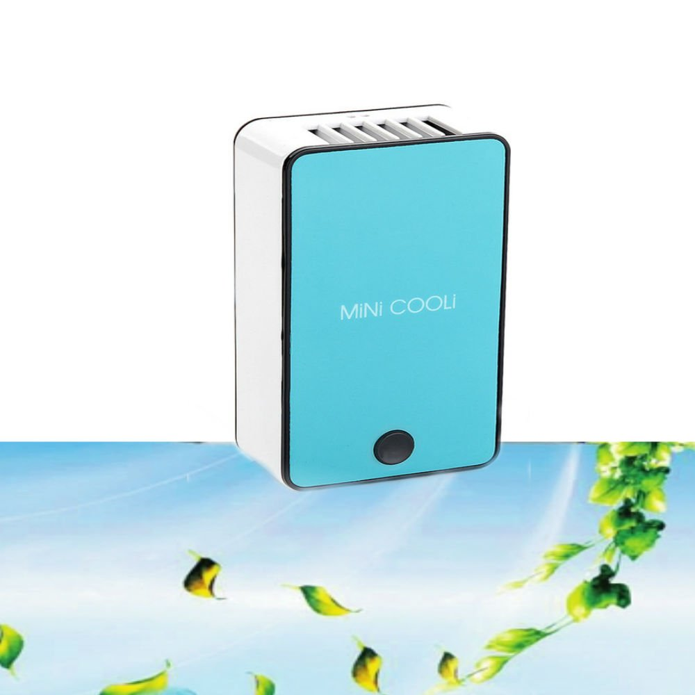 Hangang Personal Air Conditioner, Portable Mini Air Conditioner Travel Handheld USB Rechargeable Cooling Fan for Summer (blue)