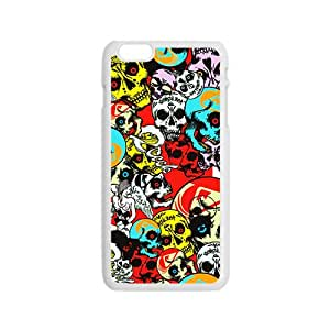 Colorful Skull Custom Protective Hard Phone Cae For Iphone 6