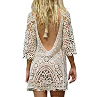 Jeasona\x20Women\u2019s\x20Bathing\x20Suit\x20Cover\x20Up\x20Crochet\x20Backless\x20Bikini\x20Swimsuit\x20Dress