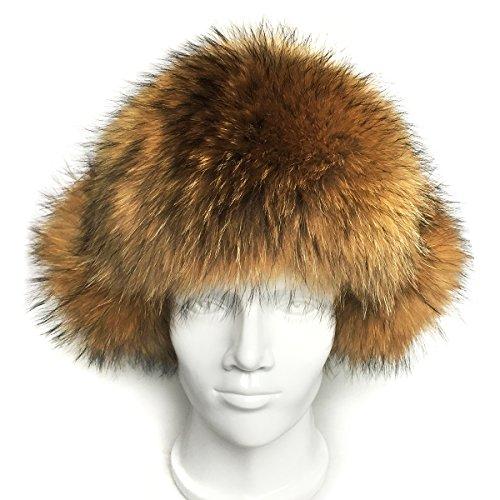 1ffee5ce15a lethmik Mens Trapper Hat Fox Fur Russian Ushanka Hat Trooper Winter ...