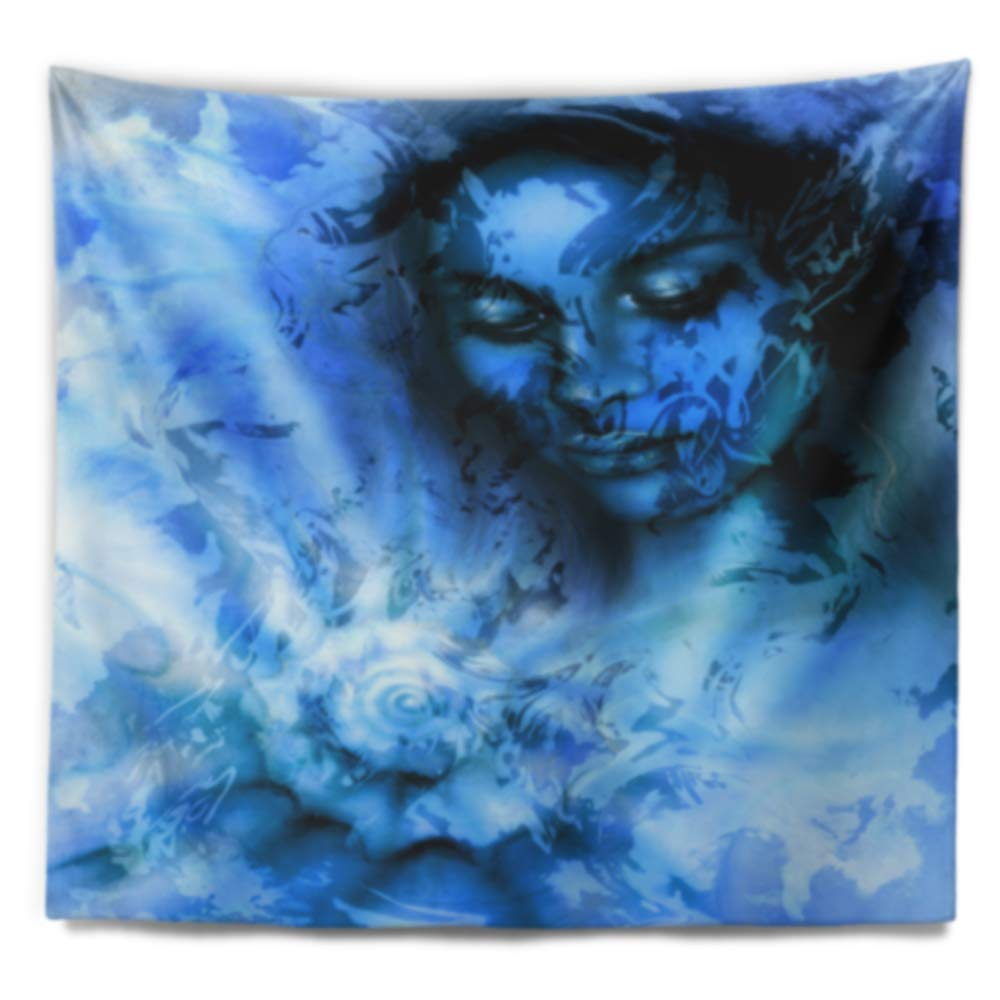 39 x 32 Designart TAP14481-39-32  Young Woman with Closed Eyes Portrait Blanket D/écor Art for Home and Office Wall Tapestry Medium