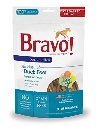 - Bravo Bonus Bites Dry Roasted Duck Feet, 5-Ounce