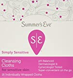 Summer's Eve Cleansing Cloth Simply Sensitive, 16 Count (Pack of 3)