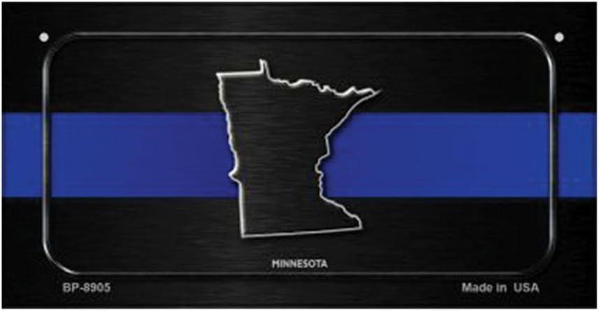 Minnesota Thin Blue Line Novelty Metal License Plate
