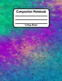 Composition Notebook: School Notebook College Ruled Lined V17