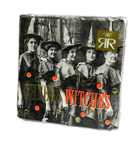 Cheers Witches 40 Pack 3 Ply Novelty Halloween Paper Cocktail Beverage Drink Party Napkins]()