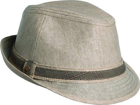 Stetson Men s Linen Fedora With Plaif Hat 8262827501f
