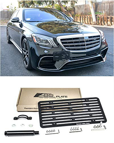 - Extreme Online Store for 2015-Present Mercedes Benz S63 S65 AMG Sedan Models | EOS Version 2 Full Sized Front Bumper Tow Hook License Plate Relocator Mount Bracket