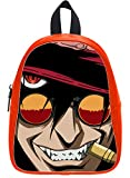 Custom Alucard Hellsing Backpack Students School Bag Outdoor Backpack OrangeRed L