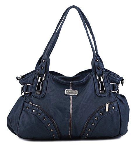Scarleton Studded Front Pocket Shoulder Bag H152207 - Blue
