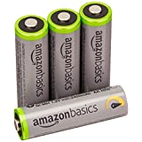 AmazonBasics AA High-Capacity Rechargeable Batteries (4-Pack) Pre-charged - Packaging May Vary