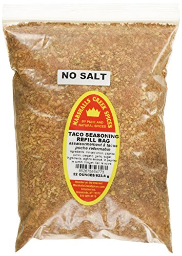 Marshalls Creek Spices Refill Pouch No Salt Taco Seasoning, XL, 22 Ounce by Marshall's Creek Spices