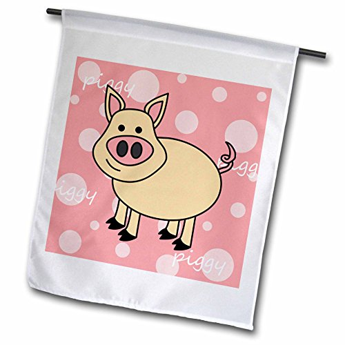 Janna Salak Designs Farm Animals – Pink Piggy Design – Happy Pig – 18 x 27 inch Garden Flag (fl_6179_2) Review