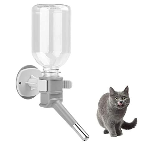 FONLAM Botella de Agua Bebedero Colgante Jaula para Gato Perro Cachorro Conejo 330ml Dispensador de Agua