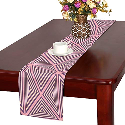Jnseff Triangle Abstract Geometric Pattern Table Runner, Kitchen Dining Table Runner 16 X 72 Inch For Dinner Parties, Events, -