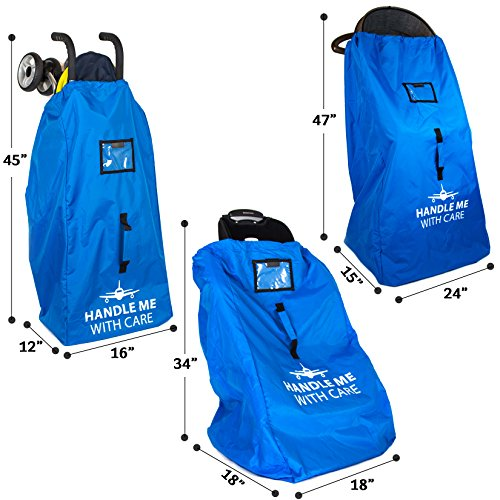 Stroller Travel Bag For Airplane Gate Check Bag - Large Standard or Double Stroller Gate check In by Reperkid (Image #3)
