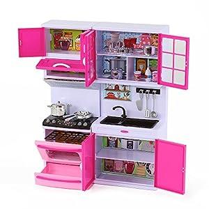 Happy emily toy kitchen set for 11 12 dolls for Kitchen set toys amazon