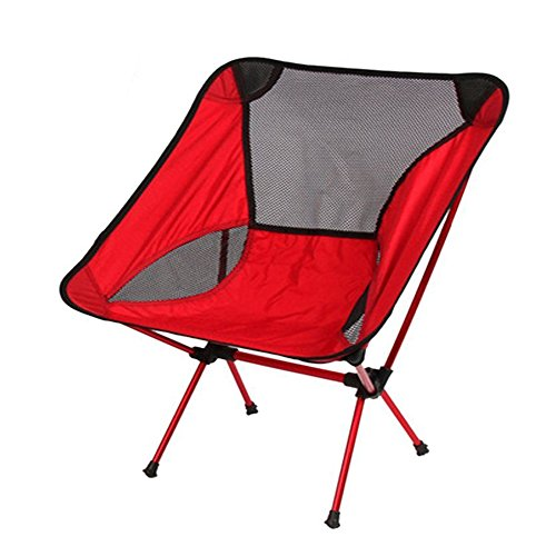 Ezyoutdoor Walkstool Compact Stool Portable Folding Chair with Case for Bivouac Travel Camping Fishing Hiking Sports Travel Photography Backpacking with Very (red) (Corvette Bbq compare prices)