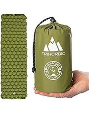 TRINORDIC Camping Mat Ultralight Opblaasbare Slaapmatras, Vouwbaar Lichtgewicht Opblazen Eenpersoonsbed Draagbare Luchtkussen, voor Outdoor Backpacken Wandelen Reizen