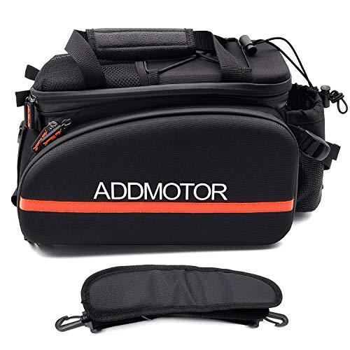 Addmotor Bicycle Pannier Bag Bike Bicycle Seat Bags Cycle Expedition Rack Bag Waterproof 35 Liters 2100 Cubic Inches (Black)