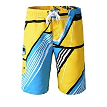 Topda123 Men's Colorful Swim Trunks Boardshorts with Mesh and String
