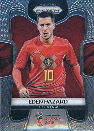 2018 Panini Prizms Silver Refractor Prizm  13 Eden Hazard Belgium World Cup  Russia Futbol Card 8db410c1b